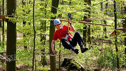 Onveilige situaties in klimparken en touwparcoursen