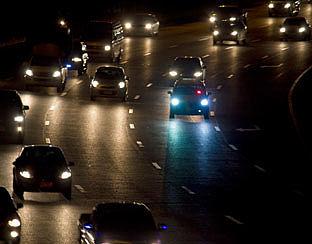 Automobilist slaperig achter stuur