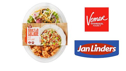 Let op: maaltijdsalade kip ketjap bevat amandelen