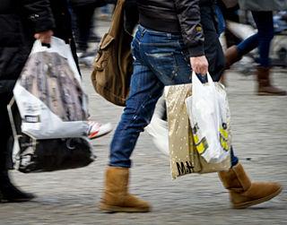 Minder plastic tasjes als klant meebetaalt