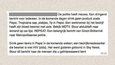 Hoax: 'Drink geen Pepsi'