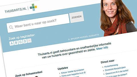 Thuisarts.nl leidt tot minder huisartsbezoek