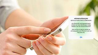 Gratis iPhone? Let op: valse melding!