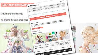 Let op: phishingmail 'wehkamp' over account-verificatie