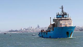 Plasticvanger van Ocean Cleanup aangekomen op werkplek