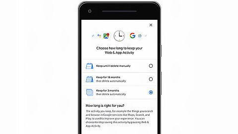 Google: Automatisch verwijderen van gegevens binnenkort mogelijk