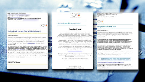 Reeks verschillende valse mails van 'ICS' in omloop