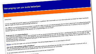 Let op: valse mail over geblokkeerde Rabobankpas