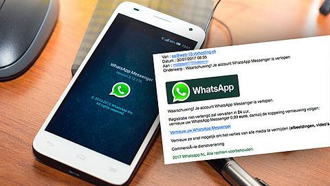 Kijk uit: nepmail over verlopen WhatsApp-account