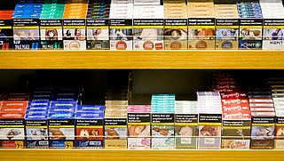 Rookwaar uit zicht in supermarkt