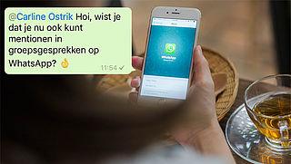 Hoe werkt taggen in WhatsAppgroepsgesprekken?
