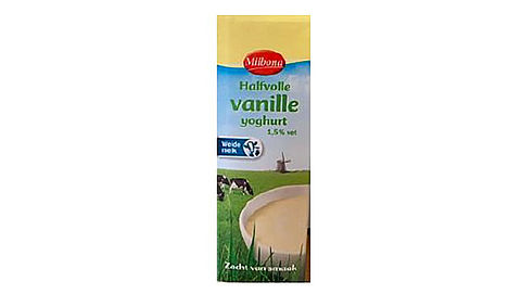 Lidl roept Milbona halfvolle vanilleyoghurt terug vanwege metaaldeeltjes