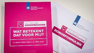 Overheid gaat laatste herinneringen donorregistratie per brief versturen