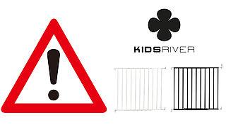Waarschuwing voor traphekjes van Kidsriver wegens stikkingsgevaar