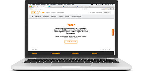Ziggo en XS4ALL blokkeren wederom The Pirate Bay
