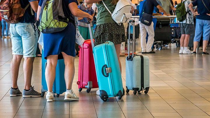 Vaker verloren koffers vliegtuigpassagiers