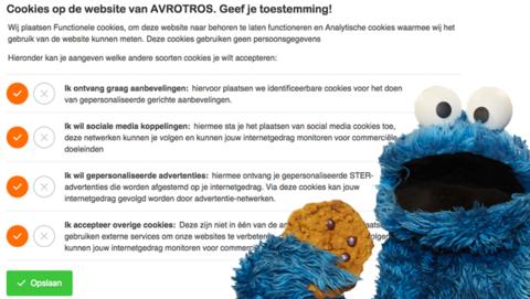 Zelf bepalen welke cookies je accepteert op de website van AVROTROS Radar