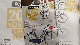 Afgeprijsde fiets niet op voorraad, wat nu?