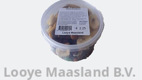 Mix gedroogd fruit en noten van Looye Maasland kan pinda's bevatten