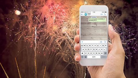 Als WhatsAppjes sturen met oud en nieuw niet lukt}