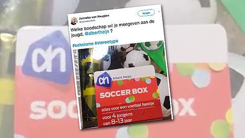 'Seksistisch' voetbalspelletje uit de schappen bij Albert Heijn