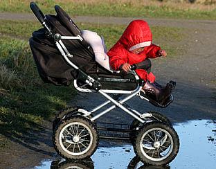 Baby's te dik door te weinig beweging
