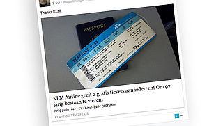 Twee gratis KLM-tickets? Trap niet in deze Facebook-hoax!