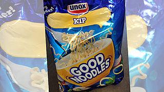 Unox past verpakking 'kip'-noedels aan