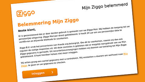 Attentie: Valse mail 'Ziggo' over misbruik account