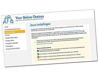 Stappenplan: youronlinechoices.com