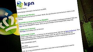 Pas op voor mail over factuur van 'KPN'!
