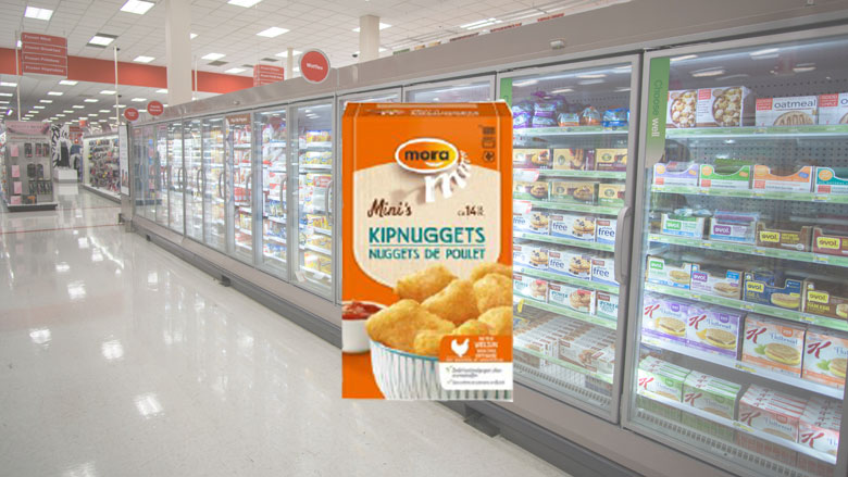 Mora roept kipnuggets terug: verkeerd product in verpakking