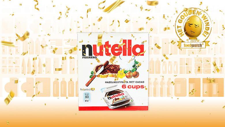 Nutella Cups van Ferrero wint Gouden Windei en is het meest misleidende product van 2020