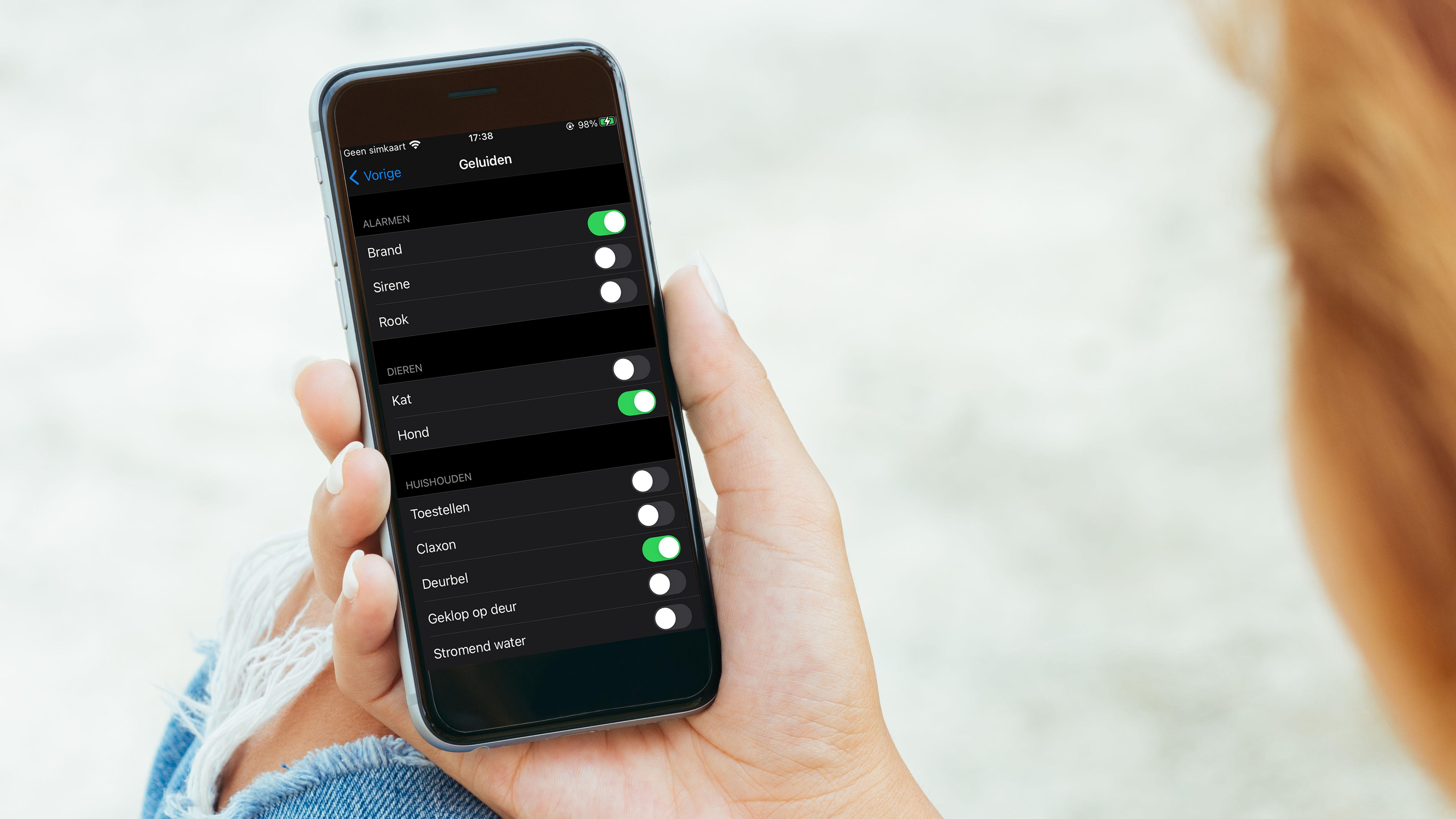 Bepaal zelf welke geluiden je iPhone moet herkennen.
