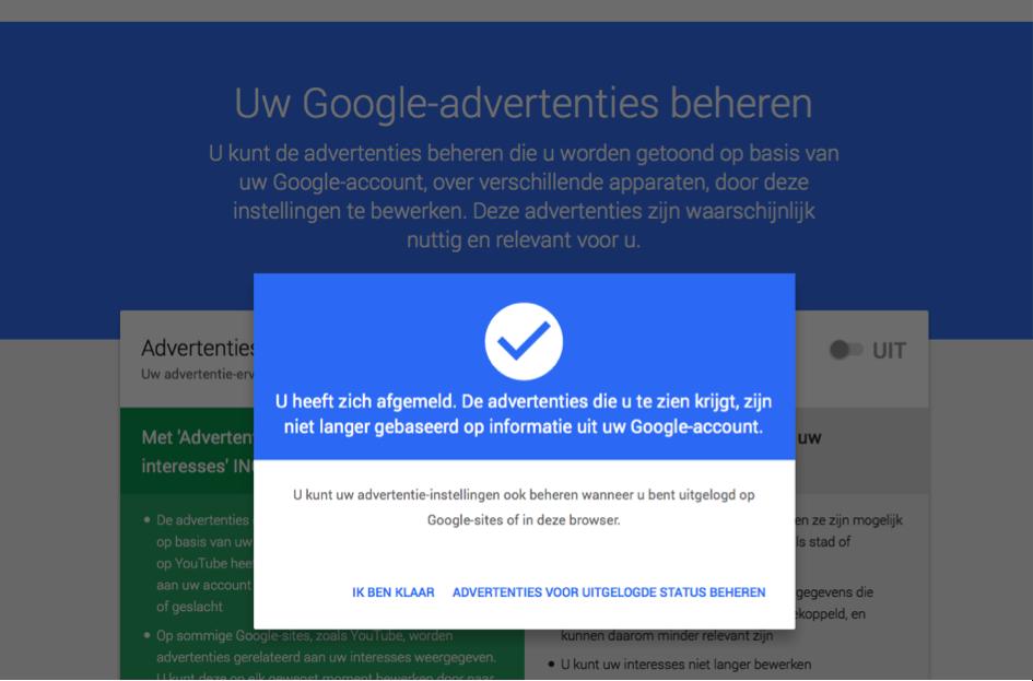 Hoe pas ik de advertentievoorkeuren van google aan? radar het