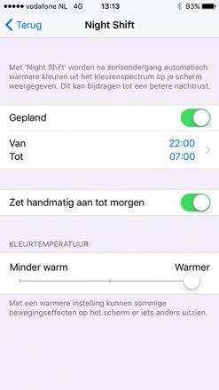 Nachtmodus iOS