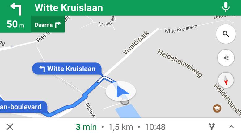Navigatie-app: Google Maps (foto)