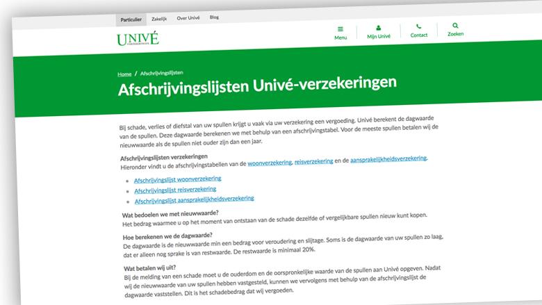 Univé maakt afschrijvingslijsten openbaar naar aanleiding van Radar-uitzending