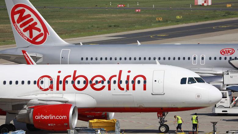 Air Berlin krijgt noodlening van Duitse overheid