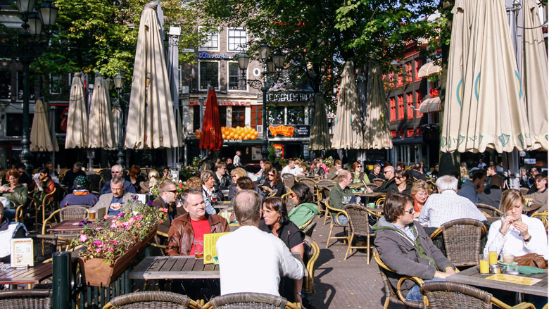Amsterdam voor vierde keer duurste terrasstad