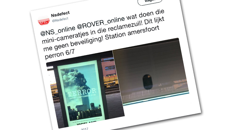 Ophef over billboards met camera's op stations