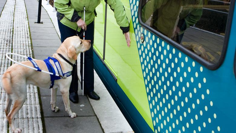 Blinde man valt uit trein na opengaan verkeerde deur