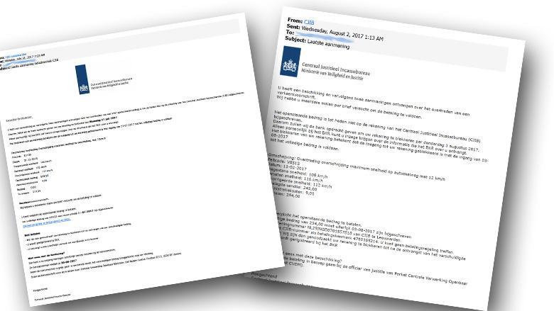 Let op: valse mails over boete van 'CJIB' in omloop!