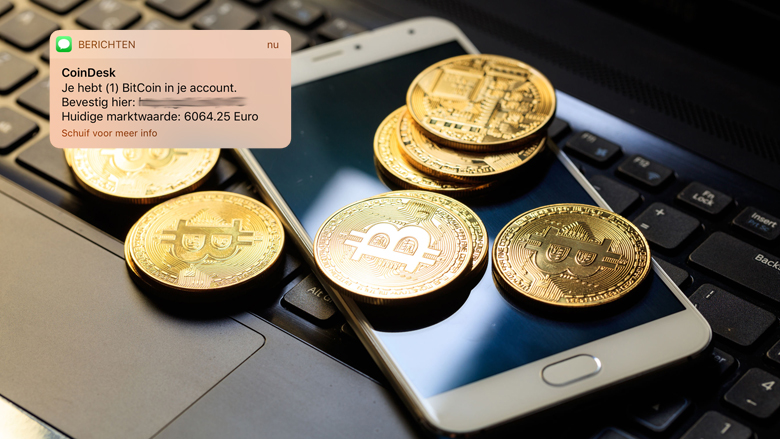 Let op: Valse sms over 'bitcoin in je account'