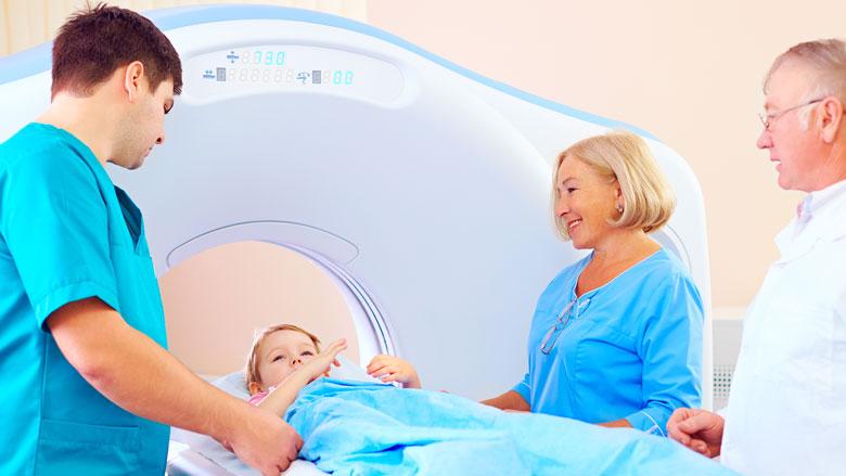 'CT-scan vergroot kans hersentumor kinderen'