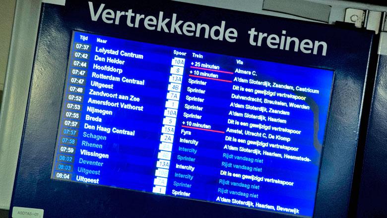 Proef NS: Geen dienstregeling, iedere 10 minuten een trein
