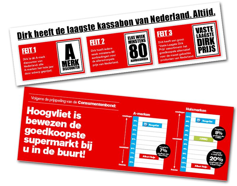 'Dirk en Hoogvliet misleiden consumenten'