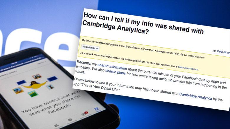 Jouw Facebookgegevens gedeeld met Cambridge Analytica?  Zo check je het
