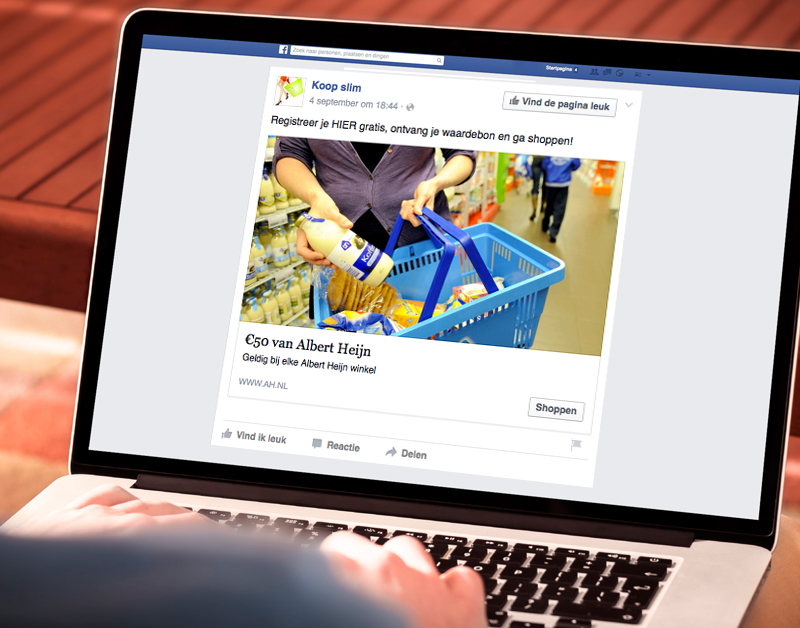 Pas op: Phishingbericht op Facebook uit naam van Albert Heijn