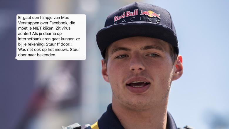 Hoax: Virus in Max Verstappen-filmpje op Facebook